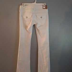 True Religion white Joey jeans.